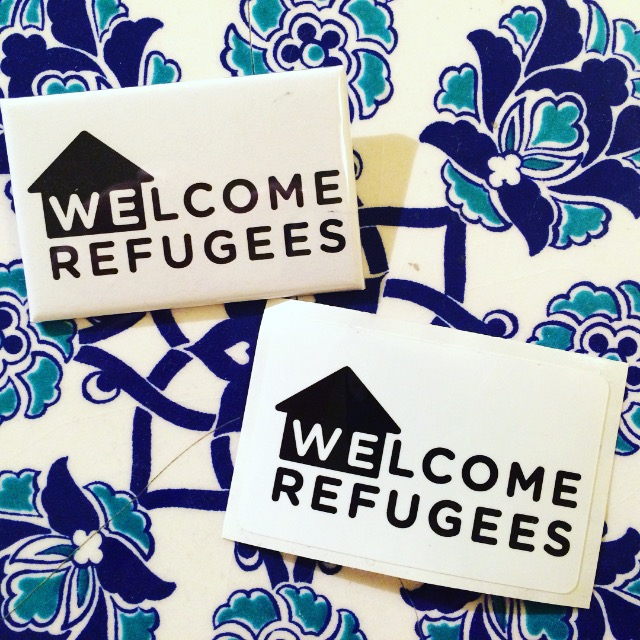 Welcome Refugees Stickers-Pins Final